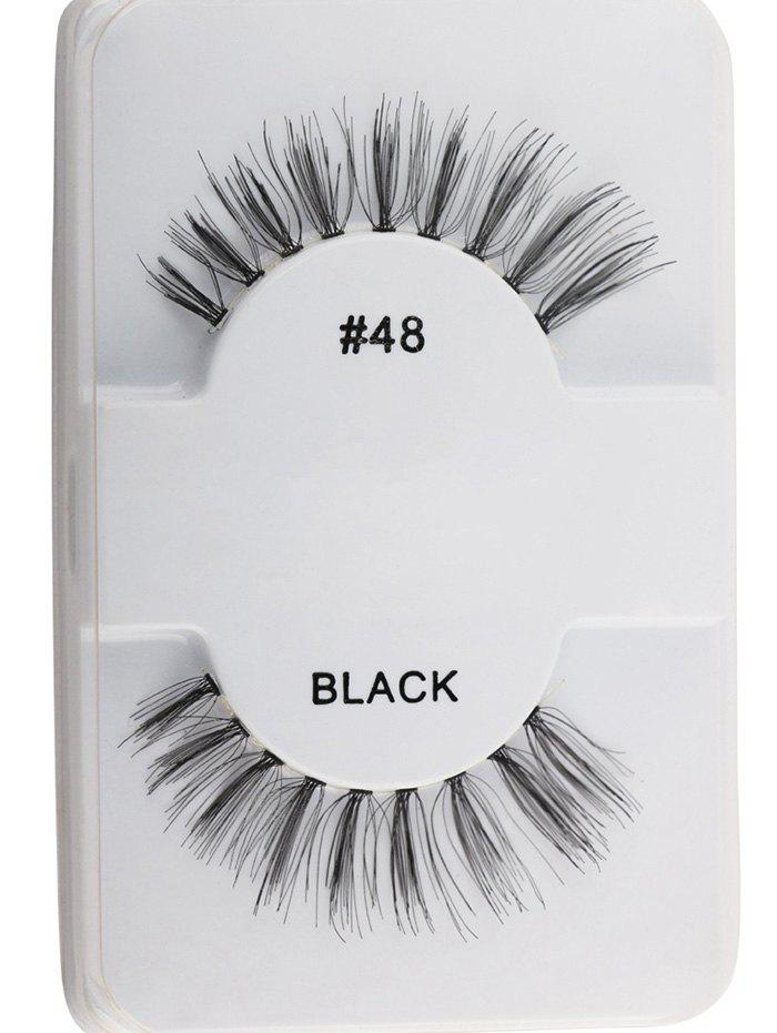 Lengthening False LashesBEAUTY<br><br>Color: BLACK; Category: False Eyelashes; Brush Hair Material: Synthetic Hair; Features: Professional; Season: Fall,Spring,Summer,Winter; Weight: 0.0120kg; Package Contents: 1 x False Eyelashes (Pair);