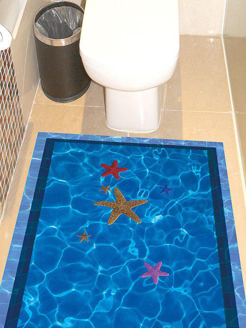 Swimming Pool with Starfish Pattern 3D Floor Stickers 211127801