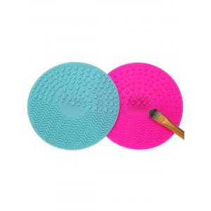 2 Pcs Makeup Brush Cleaner Pads - Multicolor - One Size