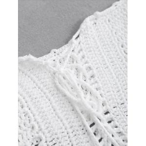 Crochet Off The Shoulder Swim Top -