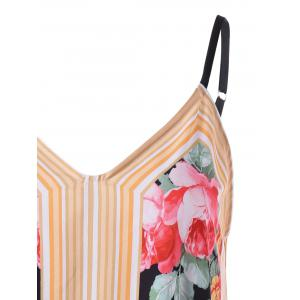 Stripe and Floral Tank Top -