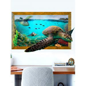 3D Decal Turtle Animal Removable Vinyl Wall Sticker - Colormix - 60*90cm