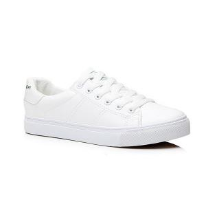 Letter Print Faux Leather Athletic Shoes