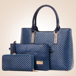 Embossed 3 Pieces Handbag Set -