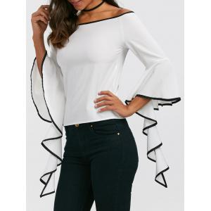 Flare Sleeve Off The Shoulder Top