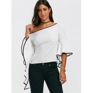 Flare Sleeve Off The Shoulder Top - WHITE S