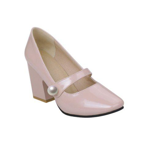 Buy Patent Leather Faux Pearl Pumps