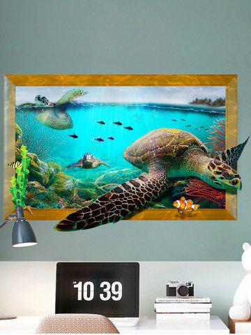 Discount 3D Decal Turtle Animal Removable Vinyl Wall Sticker - 60*90CM COLORMIX Mobile