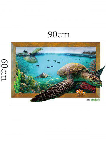 Fancy 3D Decal Turtle Animal Removable Vinyl Wall Sticker - 60*90CM COLORMIX Mobile