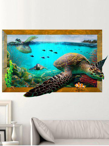 Chic 3D Decal Turtle Animal Removable Vinyl Wall Sticker - 60*90CM COLORMIX Mobile