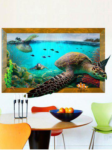 Sale 3D Decal Turtle Animal Removable Vinyl Wall Sticker - 60*90CM COLORMIX Mobile