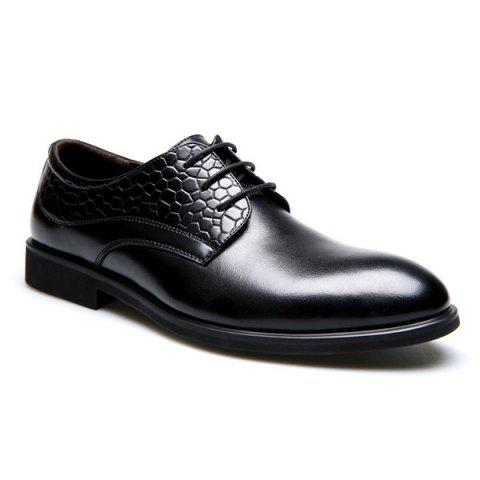 Buy PU Leather Embossing Formal Shoes - Black 41