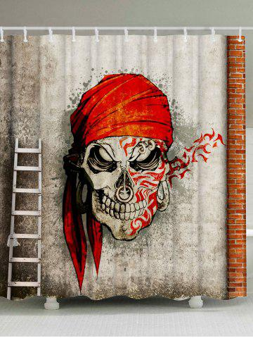 Skull Pirate Street Art Shower Curtain