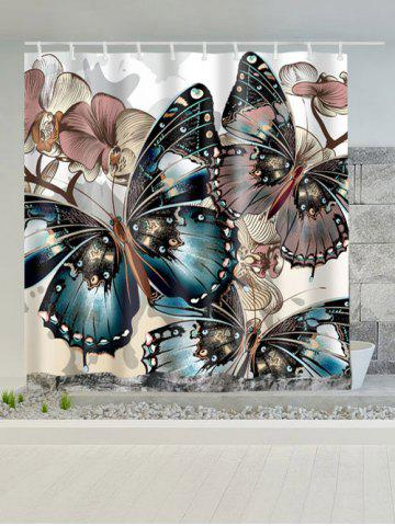 Latest Butterfly Print Water Repellent Shower Curtain - W59 INCH * L71 INCH COLORMIX Mobile