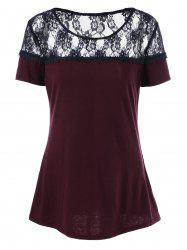 Lace Panel Laser Cut T-Shirt