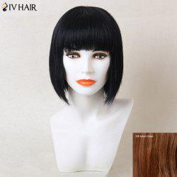 Siv Hair Straight Neat Bang Short Bob Human Hair Wig