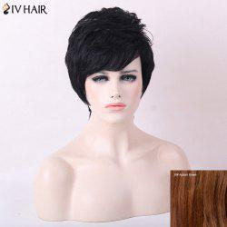 Siv Hair Short Fluffy Side Bang Straight Human Hair Wig