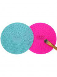 2 Pcs Makeup Brush Cleaner Pads - MULTICOLOR