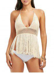 Halter Tassel Crochet Cover-Up