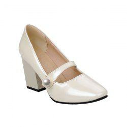 Patent Leather Faux Pearl Pumps