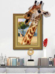 3D Giraffe Vinyl Wall Art Sticker Home Decoration - LIGHT BROWN