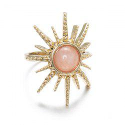 Artificial Gemstone Sun Circle Ring