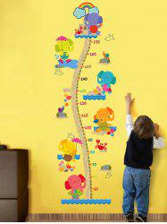 Cartoon Elephant Children Room Height Chart Sticker