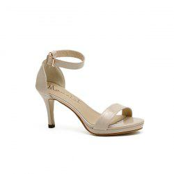 Ankle Strap Patent Leather Sandals