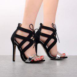 Stiletto Heel Tie Up Sandals