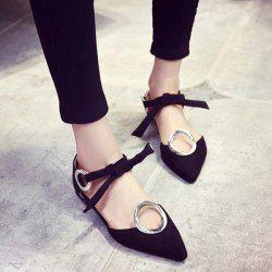 Lace Up Metal Ring Flat Shoes