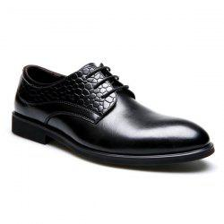 PU Leather Embossing Formal Shoes -