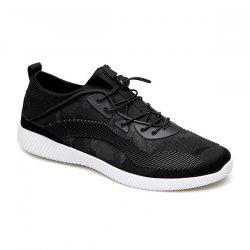 Breathable Stretch Fabric Casual Shoes - BLACK