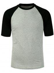 Color Block Raglan Sleeves T-Shirt