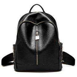 Metallic Zips Rivet Backpack