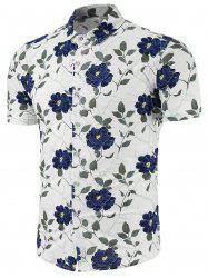 Short Sleeve Shirt with Floral Pattern