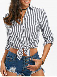Button Up Striped Shirt