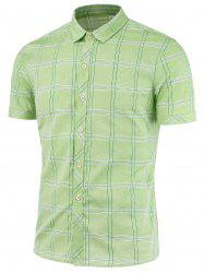 Short Sleeves Checked Shirts