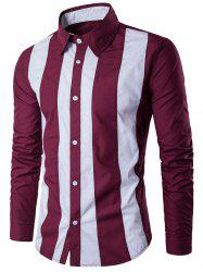 Long Sleeve Two Tone Striped Shirt