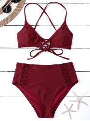 Lace Up Multi Way Convertible Bikini -