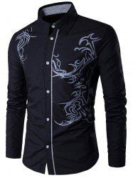 Long Sleeve Totem Pattern Shirt