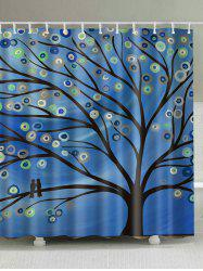 Oil Painting Tree Print Shower Curtain