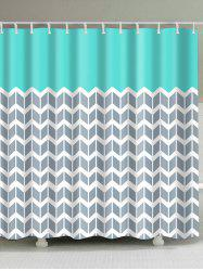 Geometric Zigzag Print Shower Curtain