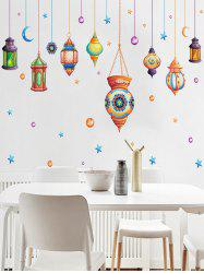 Cartoon mystique Droplights Wall Sticker - Multicolore