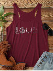 LOVE Graphic Top - DEEP RED