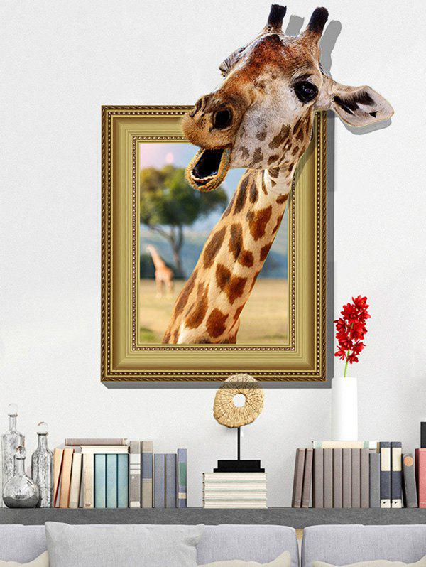3D Giraffe Vinyl Wall Art Sticker Home DecorationHOME<br><br>Size: 60*90CM; Color: LIGHT BROWN; Wall Sticker Type: 3D Wall Stickers; Functions: Decorative Wall Stickers; Theme: Animals; Material: PVC; Feature: Removable; Weight: 0.3050kg; Package Contents: 1 x Wall Sticker;