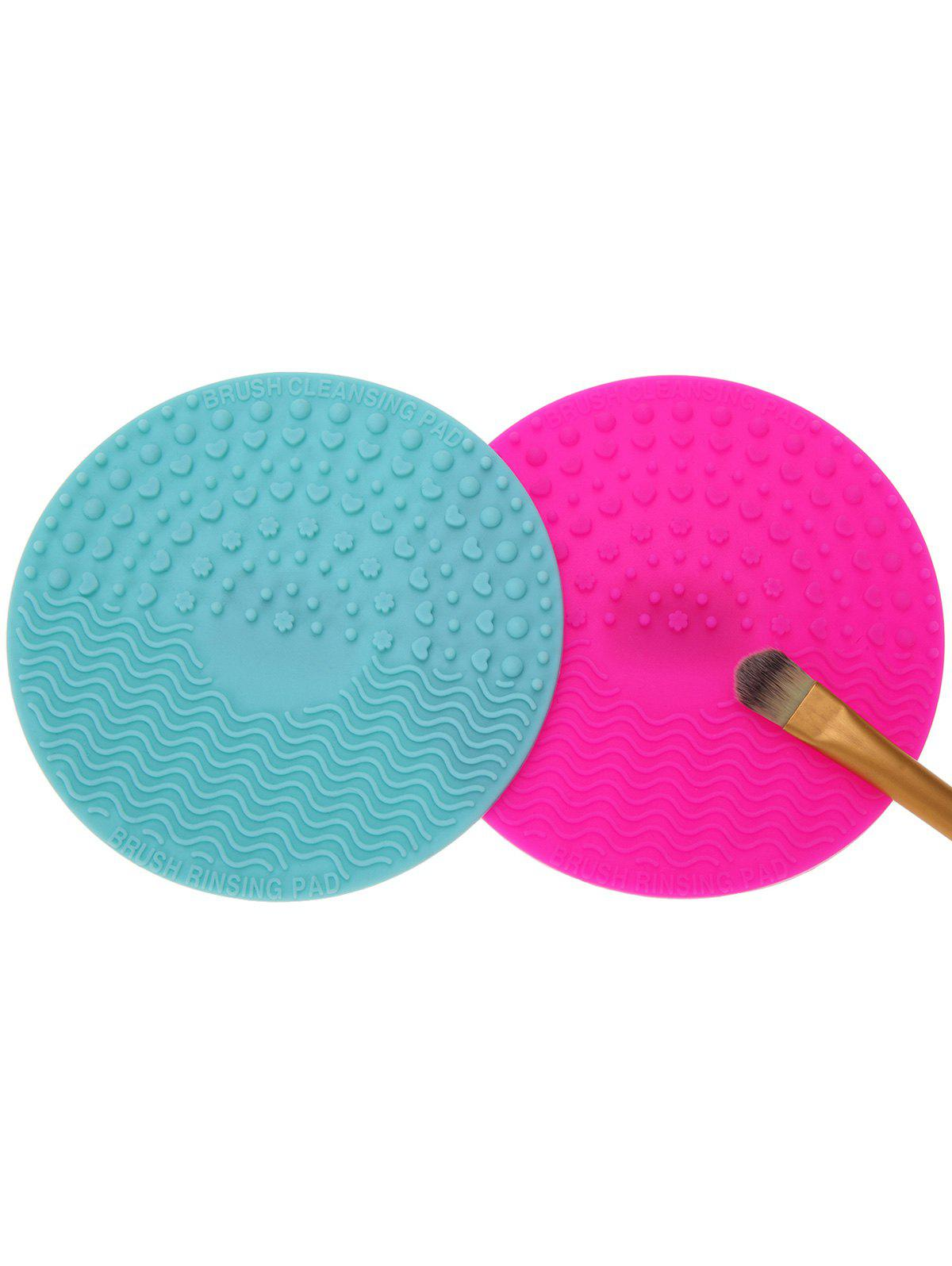 2 Pcs Makeup Brush Cleaner PadsBEAUTY<br><br>Color: MULTICOLOR; Category: Other Brush; Features: Professional; Weight: 0.0900kg; Package Contents: 2 x Brush Cleaning Pads (Pcs);
