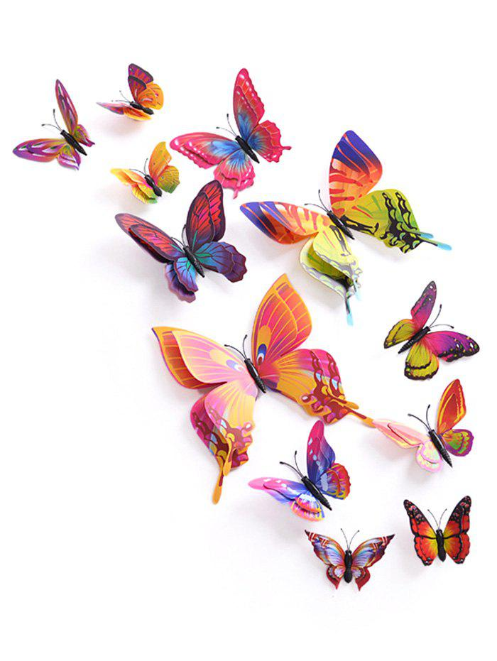 12Pcs/Set Magnet DIY 3D Butterflies PVC Wall StickersHOME<br><br>Color: COLORMIX; Wall Sticker Type: 3D Wall Stickers; Functions: Decorative Wall Stickers; Theme: Animals,Shapes; Material: PVC; Feature: Removable; Weight: 0.0864kg; Package Contents: 1 x Butterfly Wall Stickers ?12Pcs/Set?;
