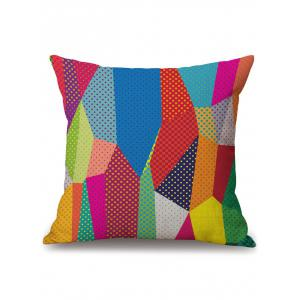 Linen Geometric Print Decorative Throw Pillow Case