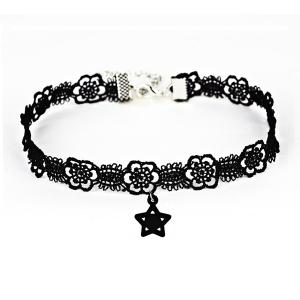 Flower Star Lace Choker Necklace