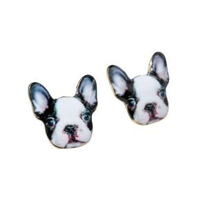 Puppy Stud Earrings - Black